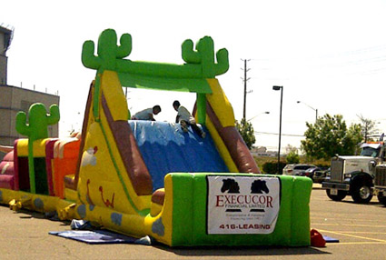 Execucor sponsored kiddie ride at the show