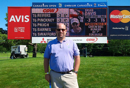 David enjoying the Canadian Open courtesy of CIT.